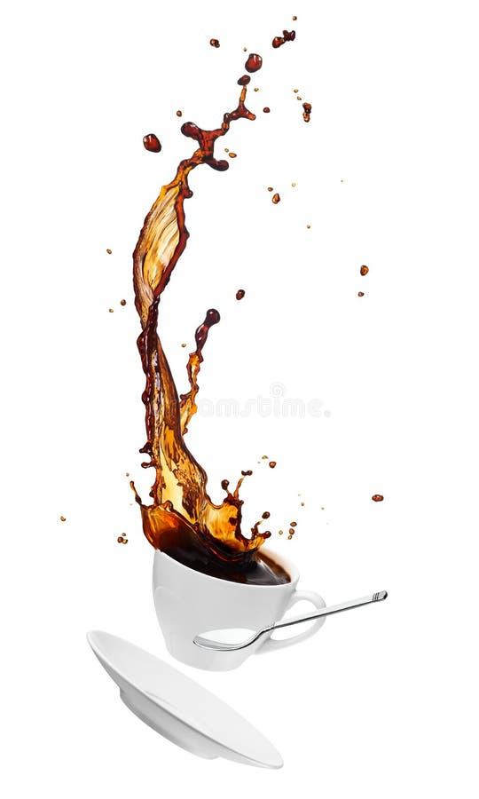 Kaffeespritzen lizenzfreies stockbild