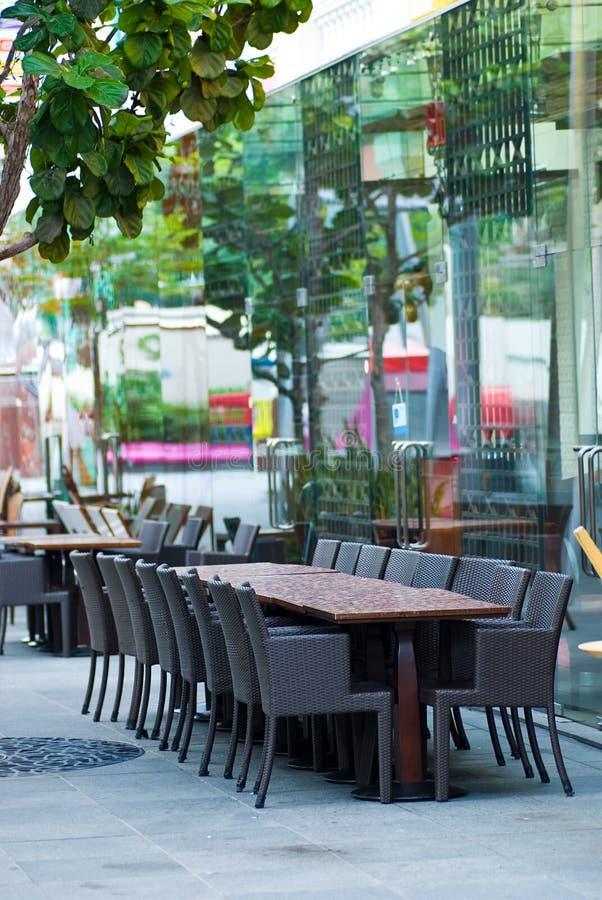 Kaffeestühle stockbild