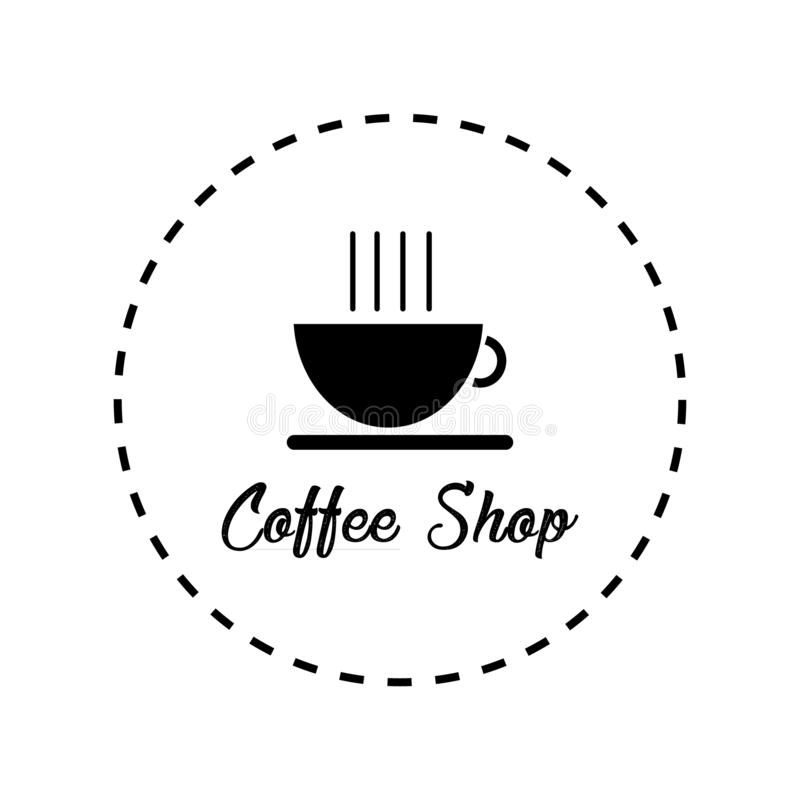 Kaffeestube Logo Icon stock abbildung
