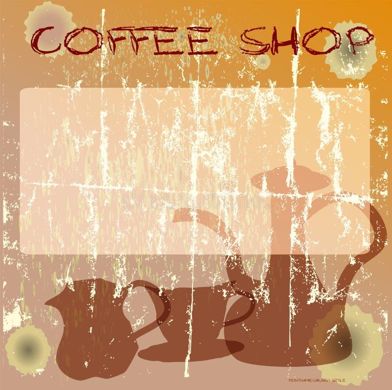 Kaffeestubeauslegung vektor abbildung