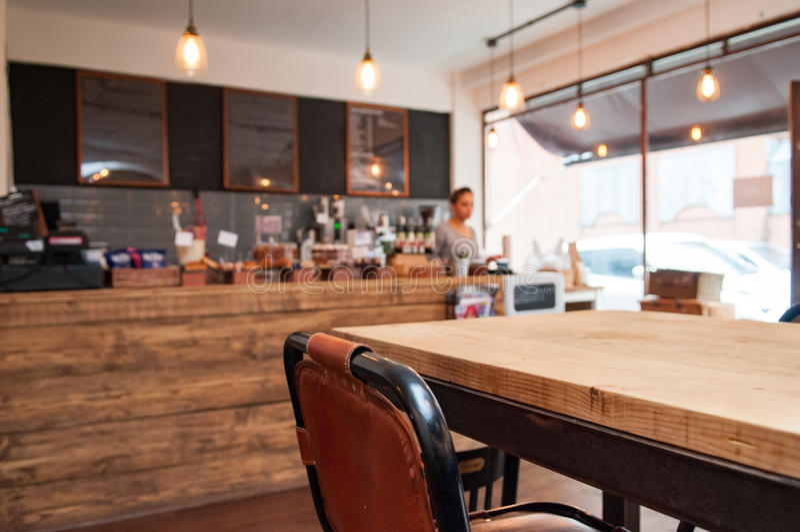 Kaffeestubeinnenraum stockfotografie
