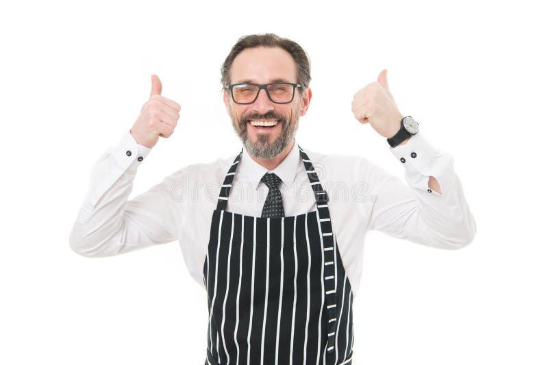 Kaffeestubekonzept Reife Kerlmitarbeiter w?nschten Erfahrenes barista, das Kollegen sucht Verbinden Sie unser Caf?team einstellun stockbild