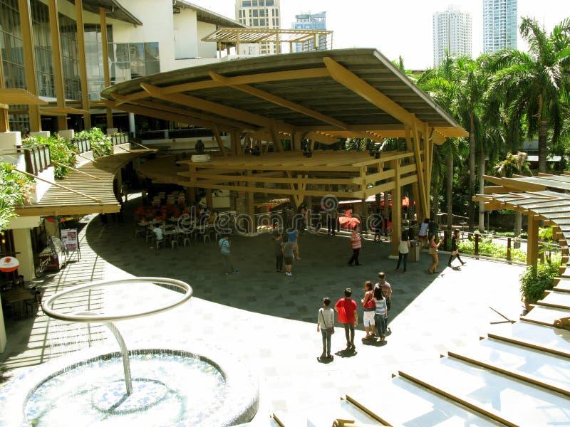Kaffeestuben und Restaurants, Grüngürtel 3, Makati, Philippinen lizenzfreie stockfotos