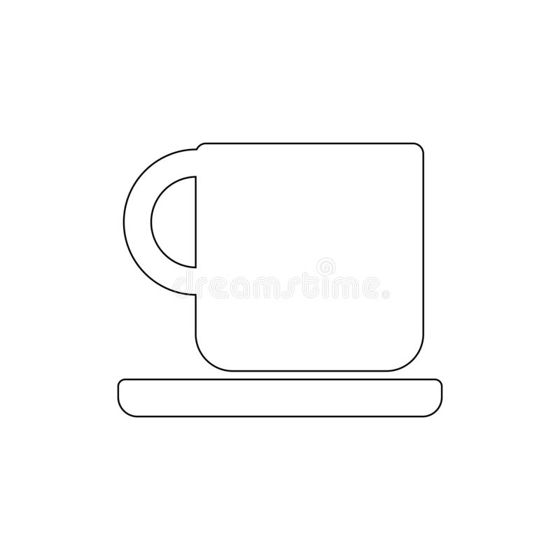Kaffeetasse auf einer Plattenentwurfsikone Zeichen und Symbole k?nnen f?r Netz, Logo, mobiler App, UI, UX verwendet werden lizenzfreie abbildung