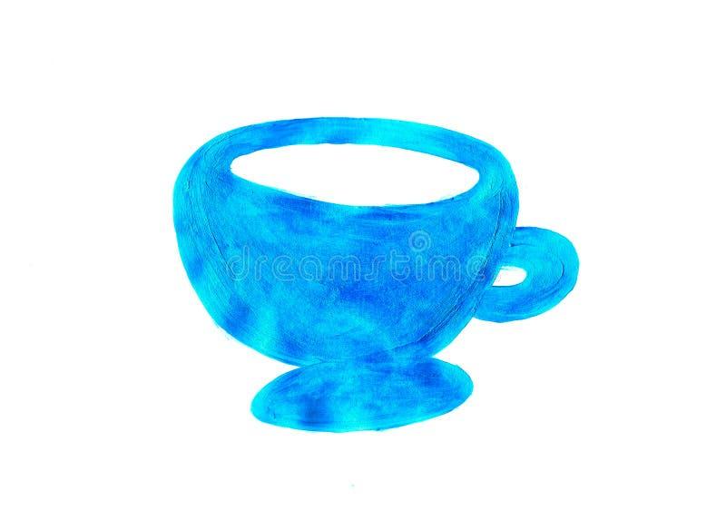 Kaffeetasse auf weißem Hintergrund lizenzfreie stockbilder