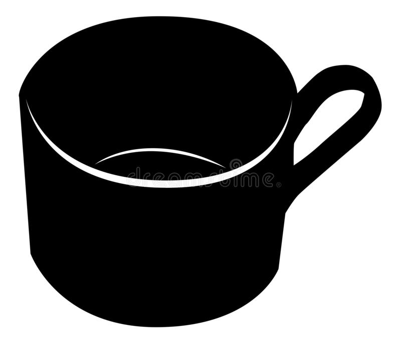 Kaffeetasse auf Wei? lizenzfreie abbildung