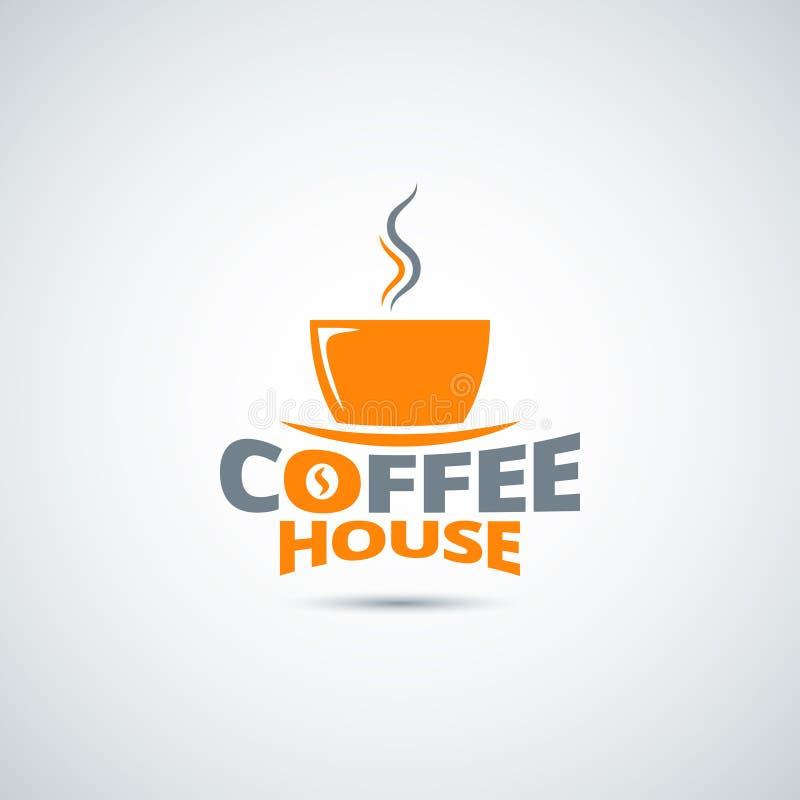 Kaffeetasse-Aufklebermenühintergrund stock abbildung