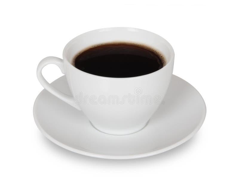 Kaffeetasse getrennt stockbild