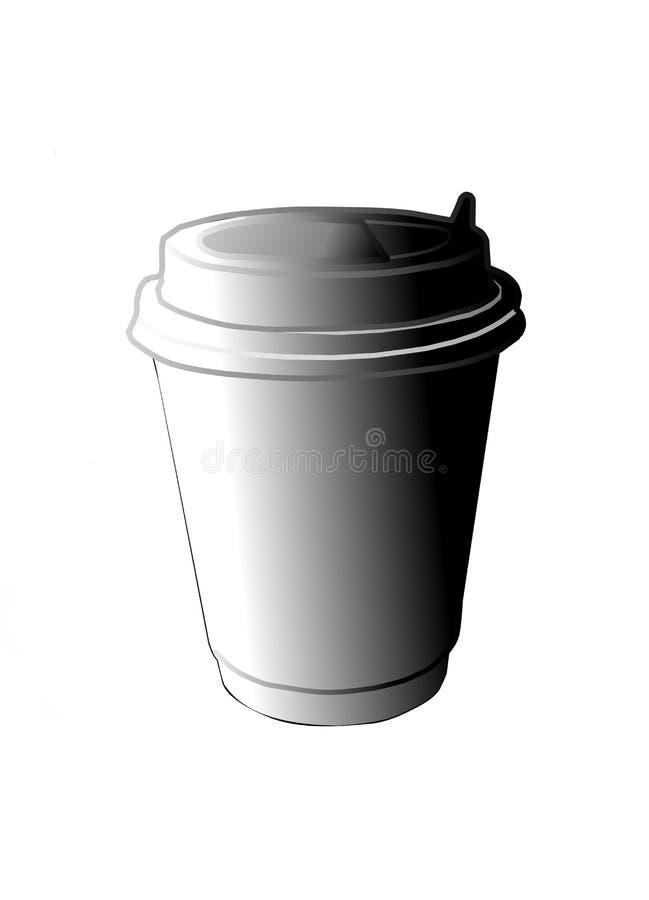 Kaffeetasse hergestellt von der Getränkpapierillustration lokalisiert auf weißem Hintergrund vektor abbildung