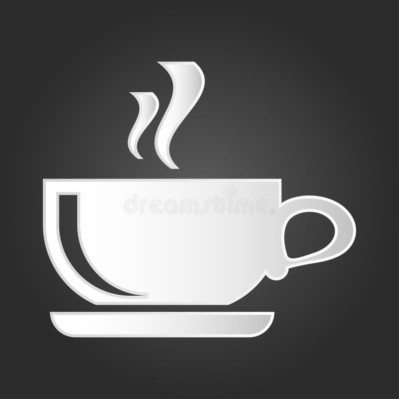 Kaffeetasse-Ikonenvektor Symbol für Ihr Websitedesign, Logo, APP, UI stockfoto
