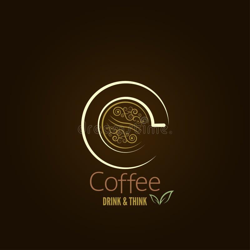 Kaffeetasse-Konzeptmenüdesign stock abbildung