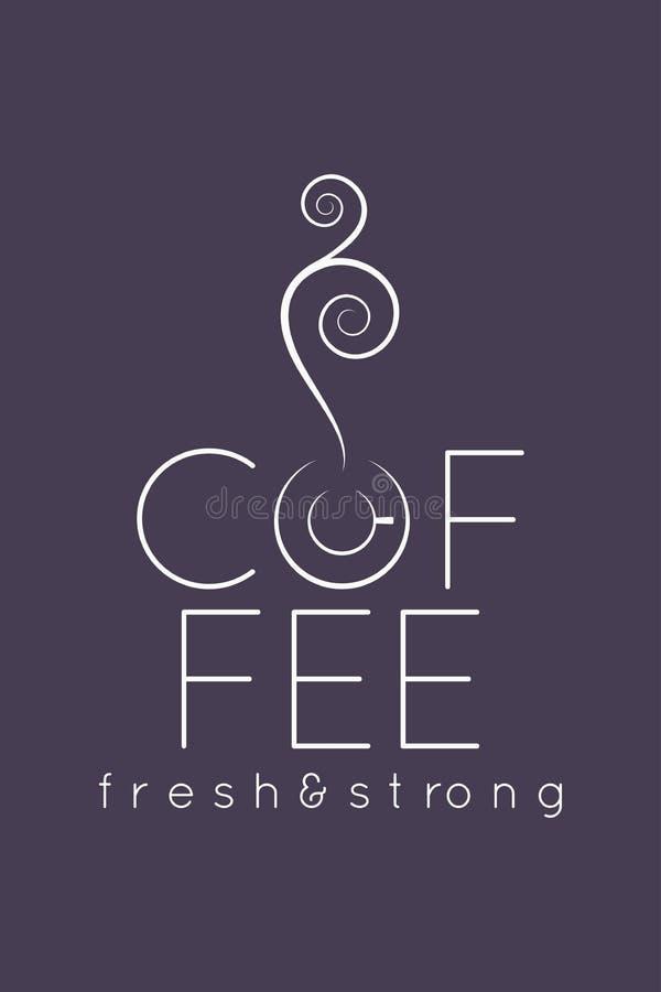 Kaffeetasse-Logomenü-Designhintergrund stock abbildung