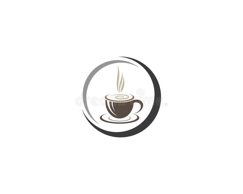 Kaffeetasse-Logoschablone vektor abbildung