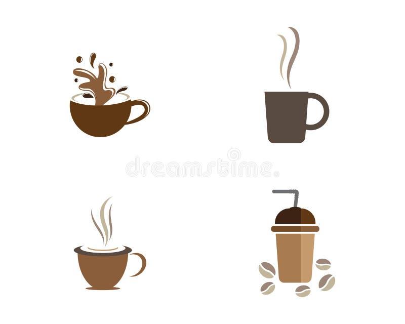 Kaffeetasse-Logoschablone lizenzfreie abbildung