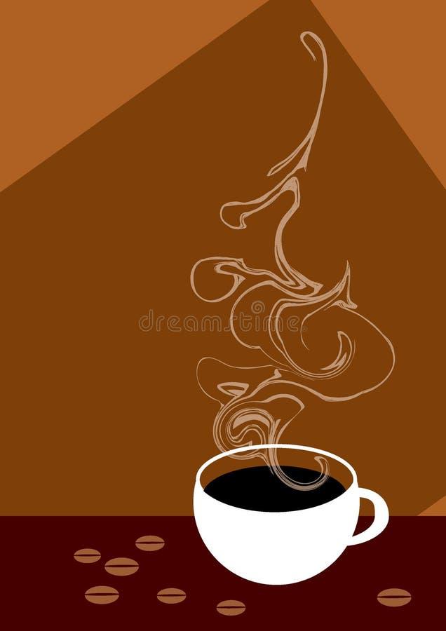 Kaffeetasse mit Bohnen lizenzfreie stockbilder