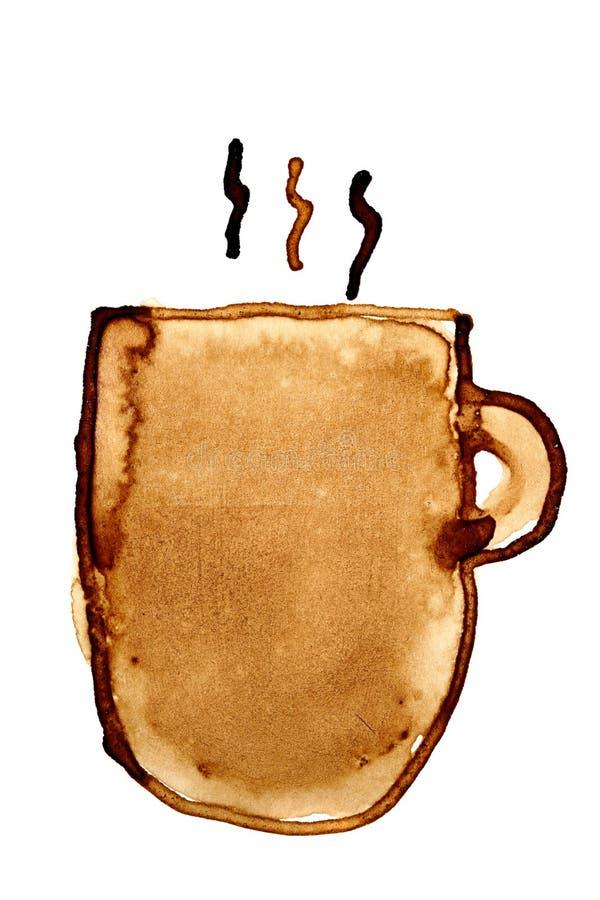 Kaffeetasse mit Dampf lizenzfreie abbildung
