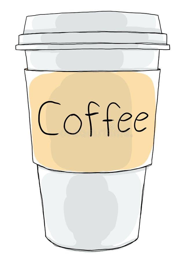 Kaffeetasse nehmen weg stock abbildung