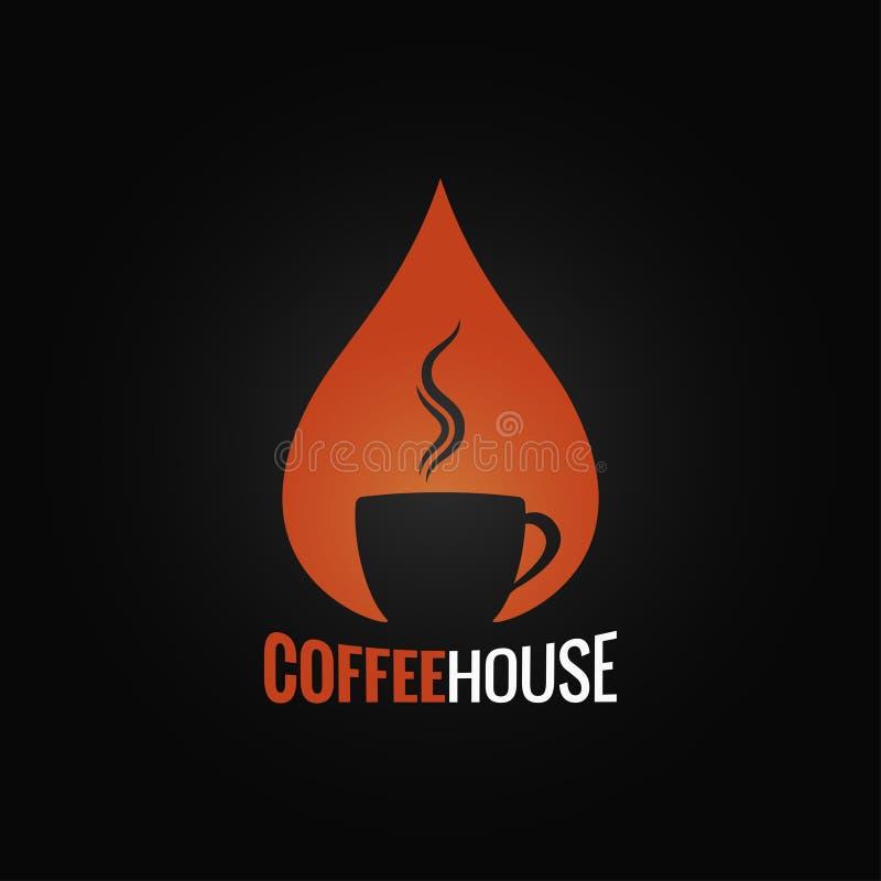 Kaffeetasse-Tropfenhintergrund lizenzfreie abbildung