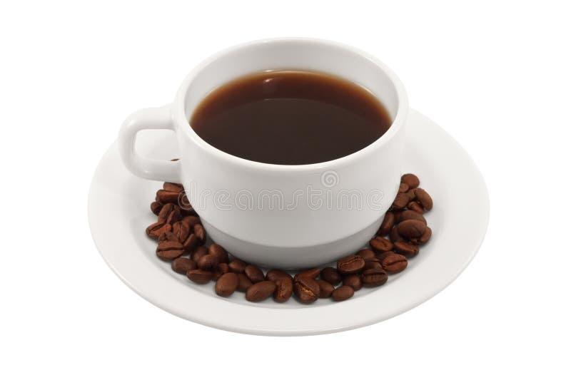 Download Kaffeetasse Und Saucer Auf Einem Weißen Hintergrund Stockbild - Bild von gebraten, bunt: 27725741