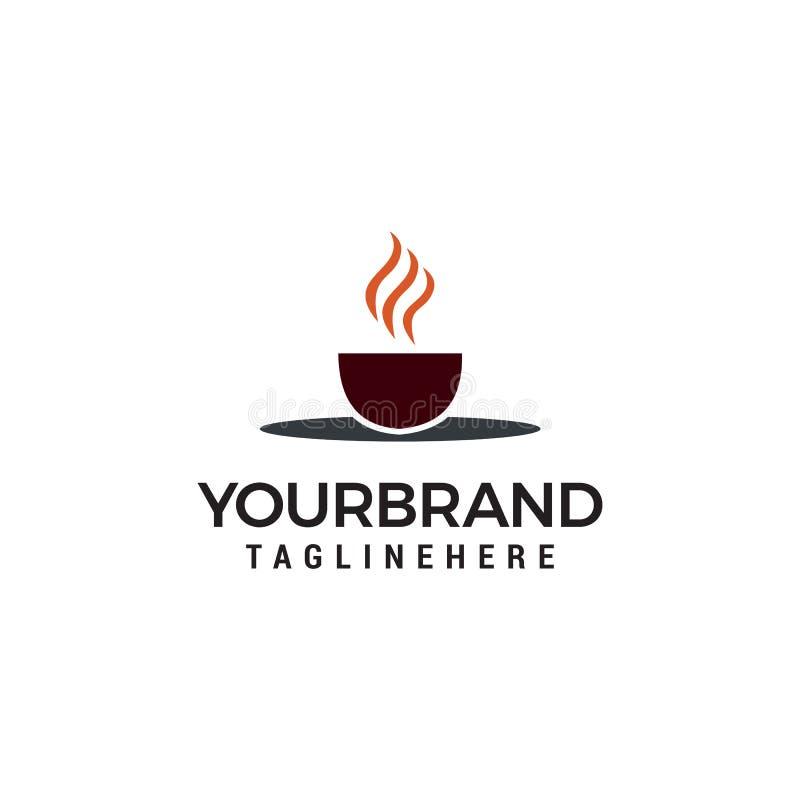 Kaffeetasse-Vektorlogo-Designschablone Kaffeestubeaufkleber lizenzfreie abbildung