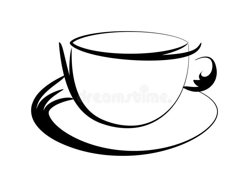 Kaffeetasseform lizenzfreie abbildung