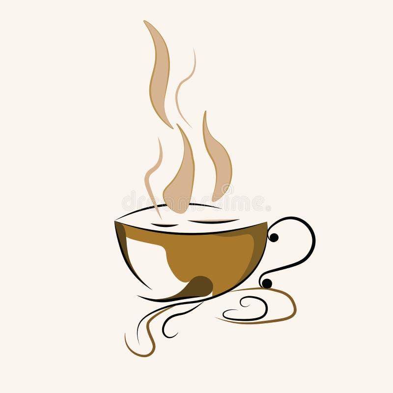Kaffeetasseikone lizenzfreie abbildung