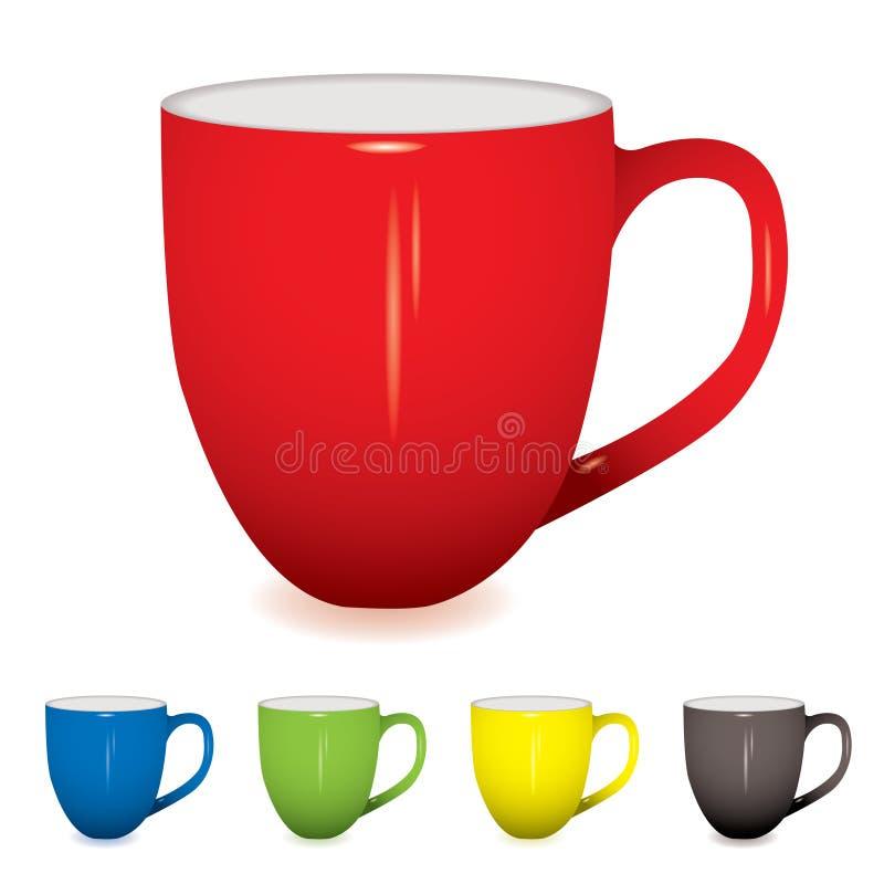 Kaffeetassevariante stock abbildung