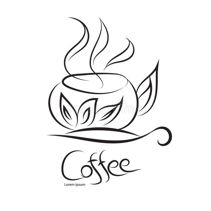 Kaffeetassevektor, Ikonenentwurf, Netzikone, Gesch?ftszeichen vektor abbildung