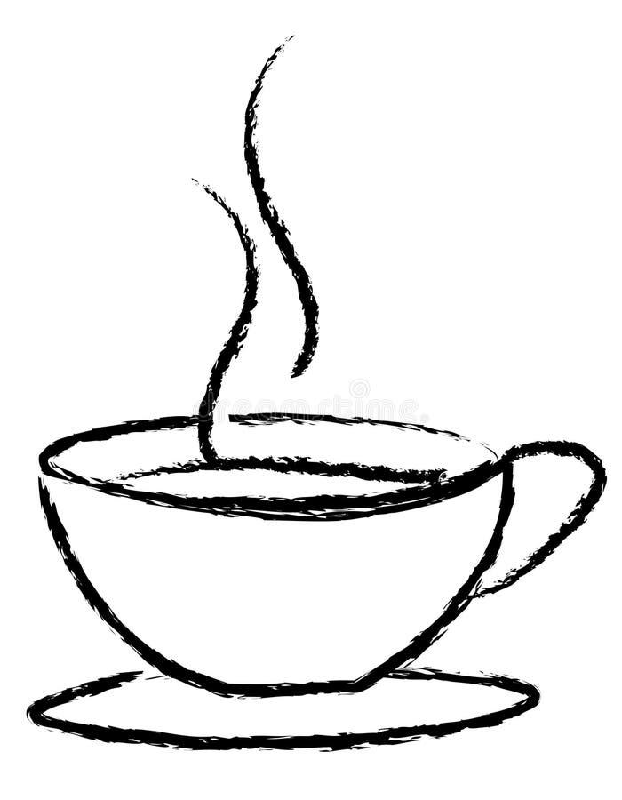 Download Kaffeetassezeichen vektor abbildung. Illustration von koffein - 12202624