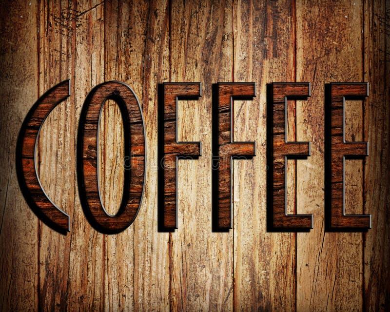 Kaffeetext stockbilder