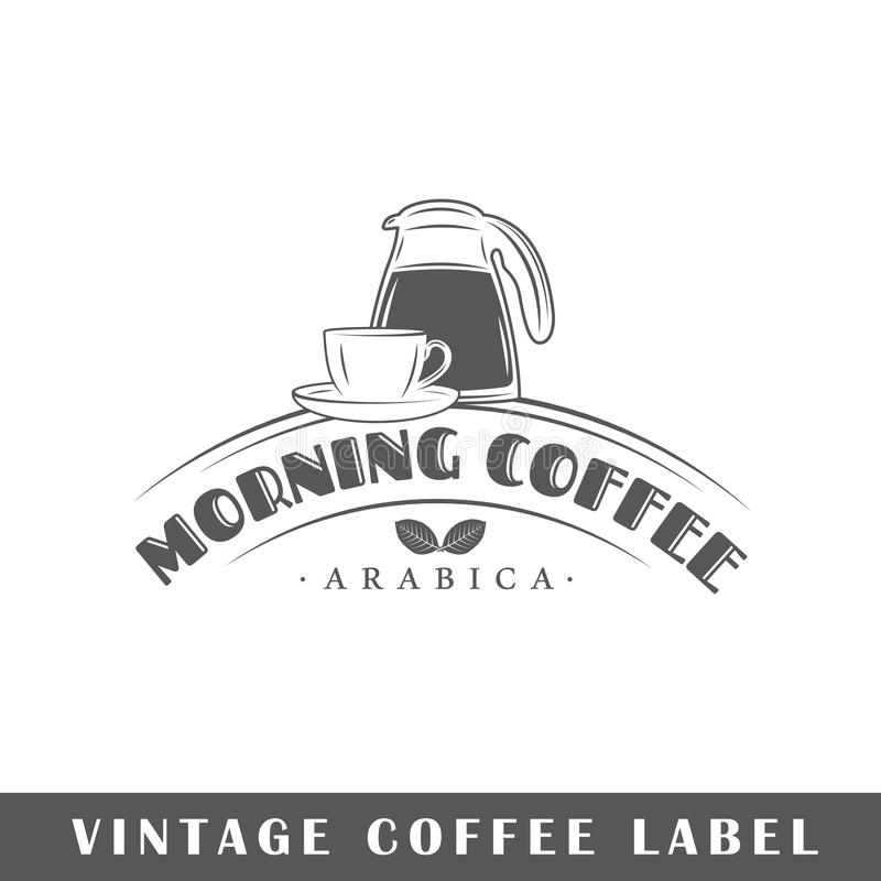 Kaffeetikettmall stock illustrationer