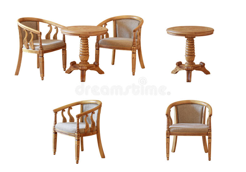 Kaffeetisch und Stühle lizenzfreies stockbild