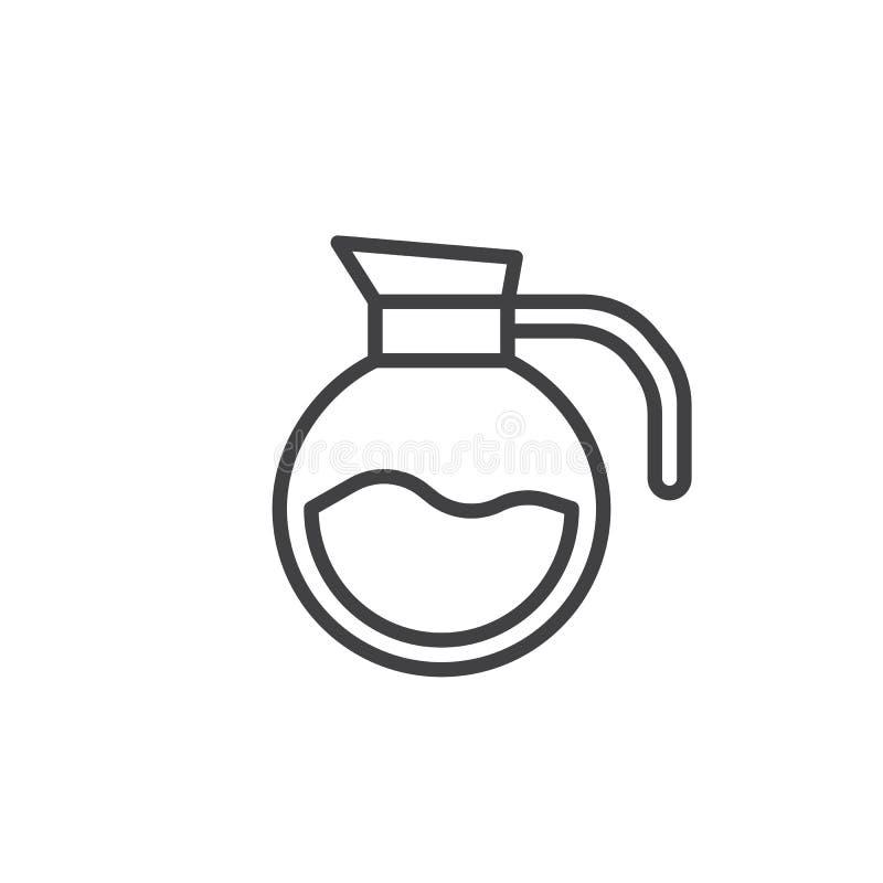 Kaffeetopflinie Ikone vektor abbildung