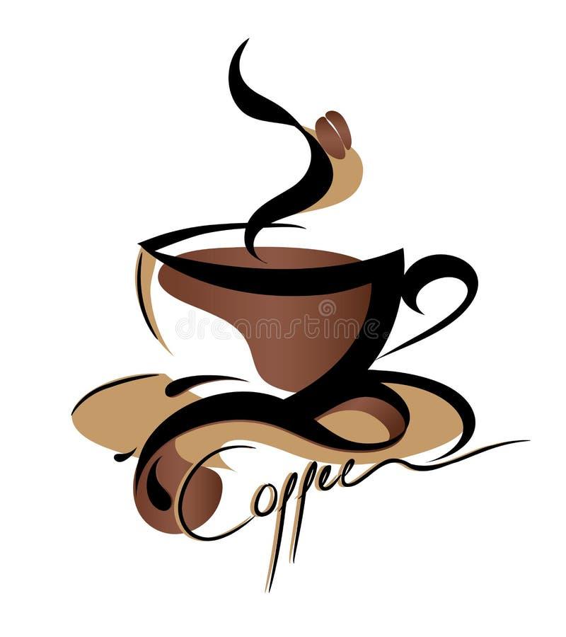 Kaffeezeichen stock abbildung