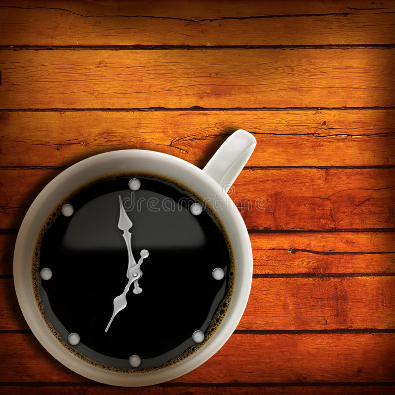 Kaffeezeit. stockbild