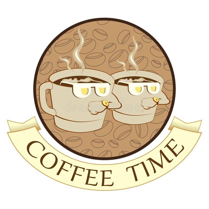Kaffeezeit, Kaffeepause vektor abbildung. Illustration von ...