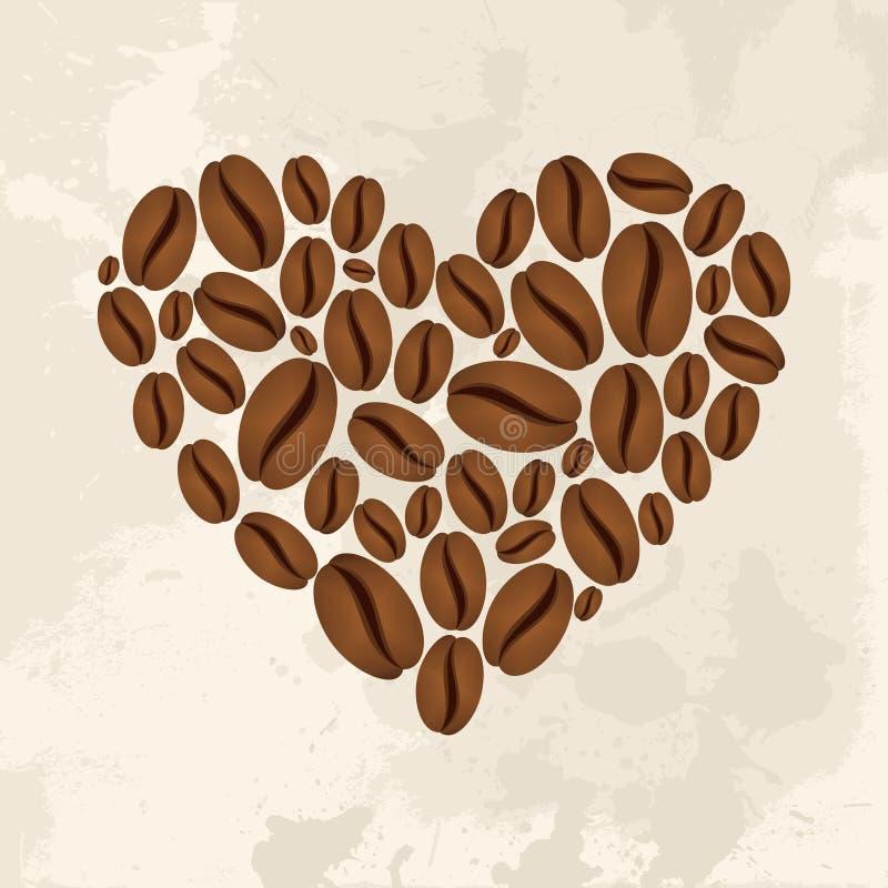 Kaffeförälskelsebegrepp royaltyfri illustrationer