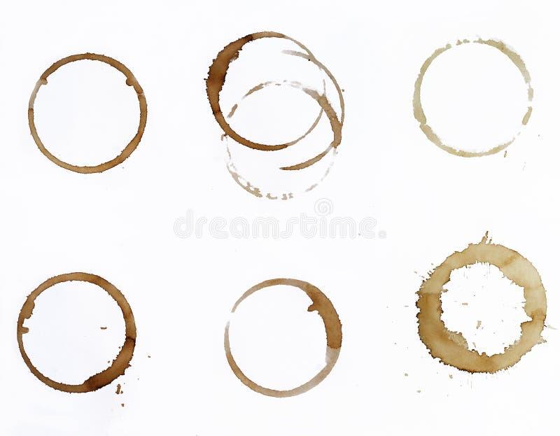 Kaffefläckar royaltyfri fotografi