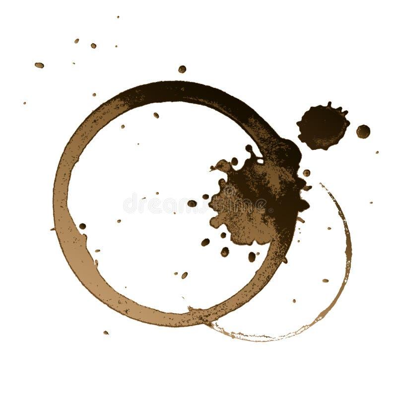 kaffefläck vektor illustrationer