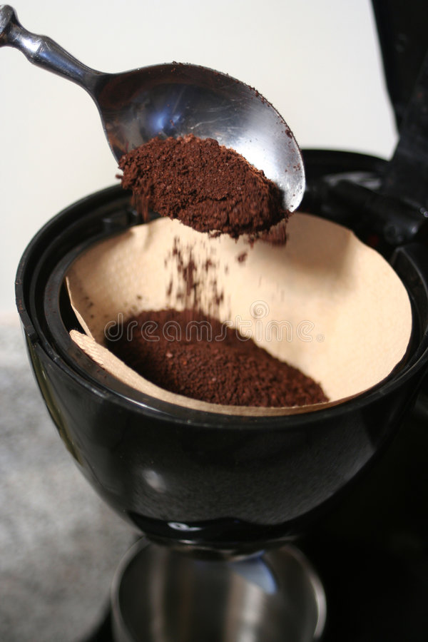 kaffeframställning arkivfoto