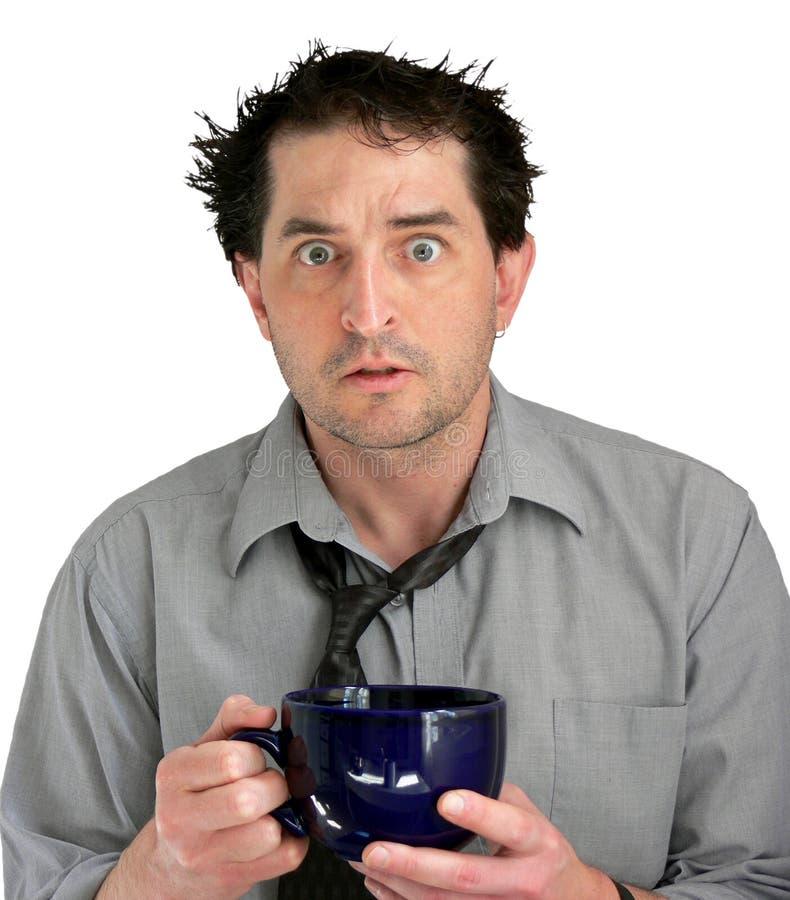 kaffegrabben belastade royaltyfri foto