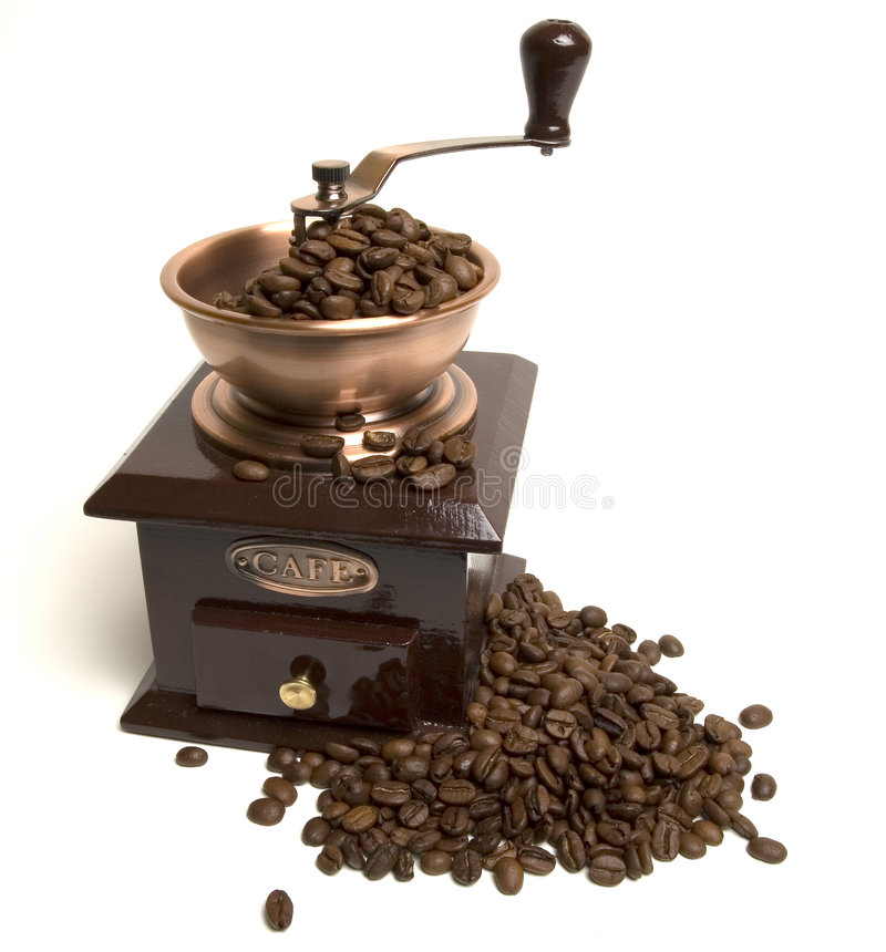 kaffegrinder royaltyfri fotografi