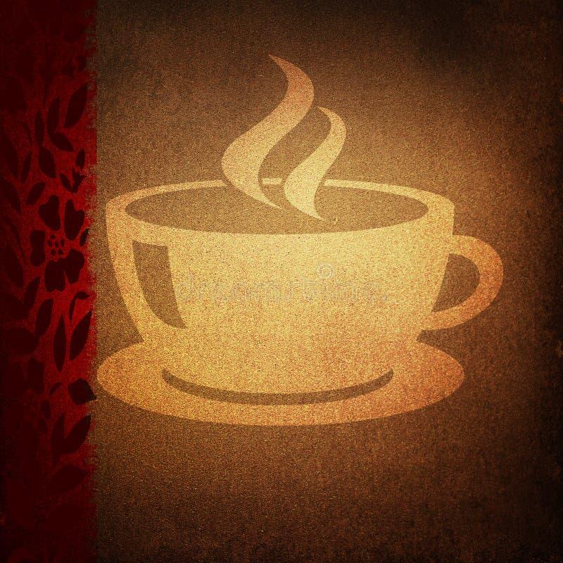 kaffegrunge royaltyfri illustrationer