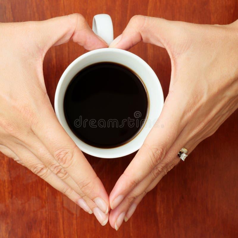 kaffehänder royaltyfri fotografi