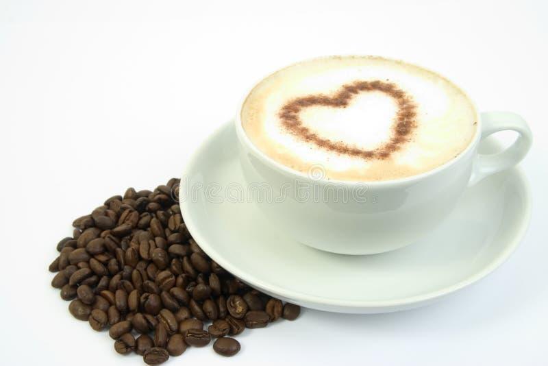 kaffehjärta royaltyfria bilder