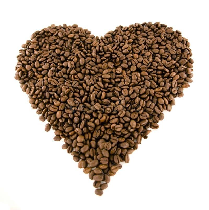 kaffehjärta royaltyfri bild