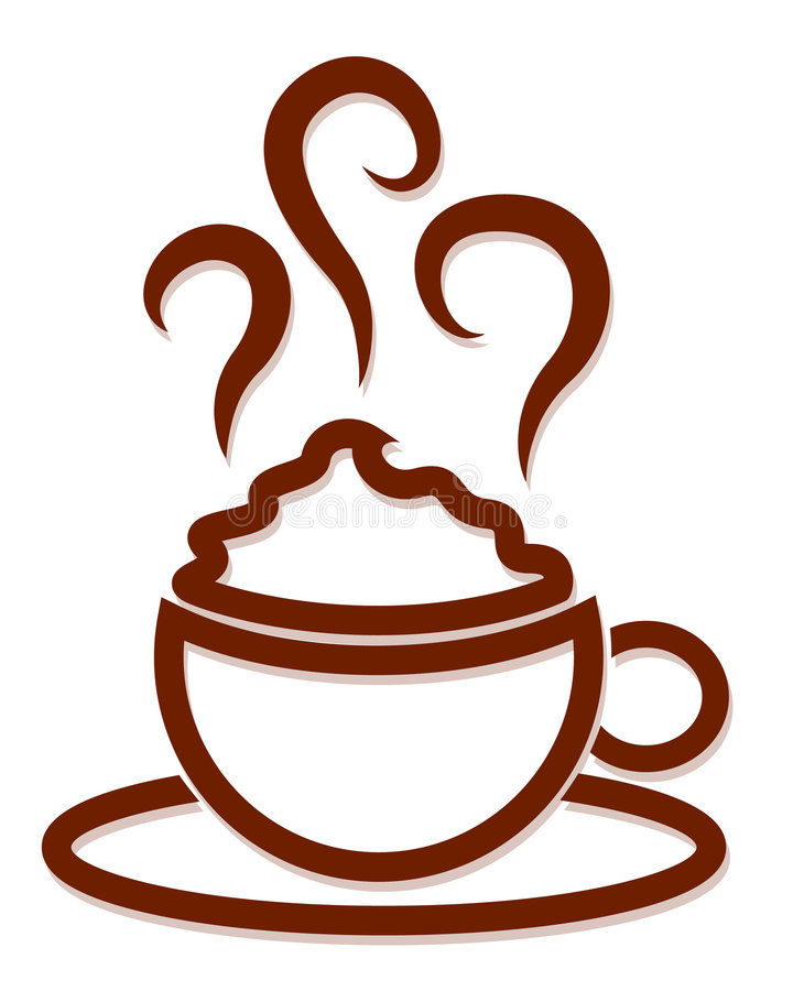 kaffeillustration royaltyfri bild