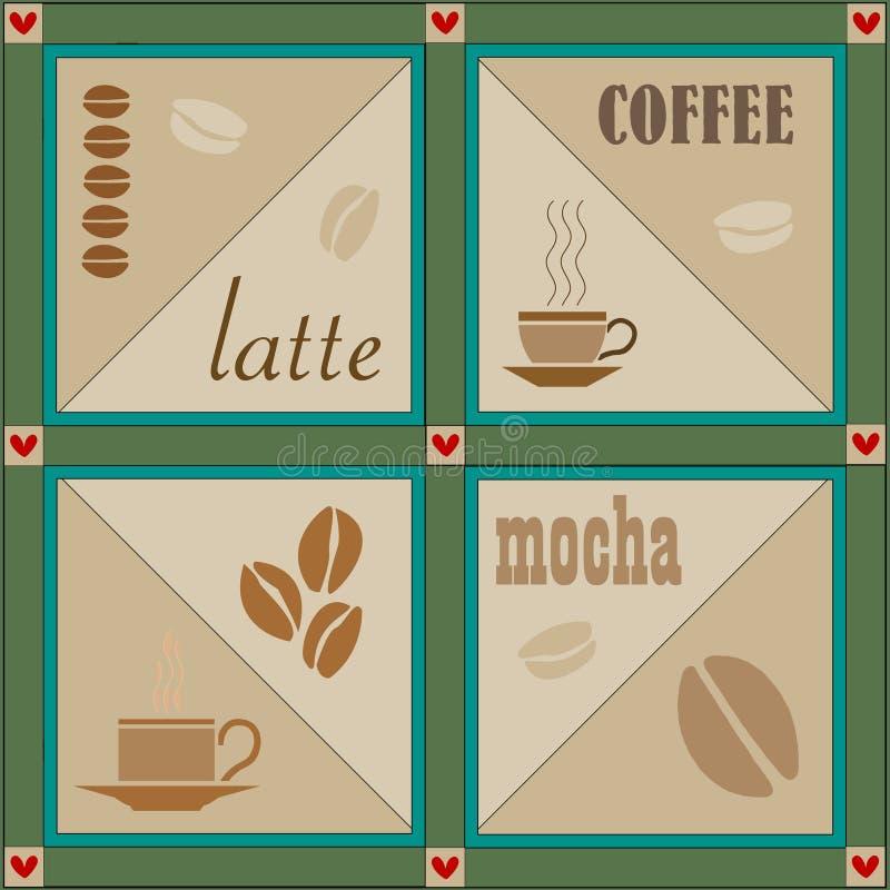 kaffeillustrationvektor royaltyfri illustrationer