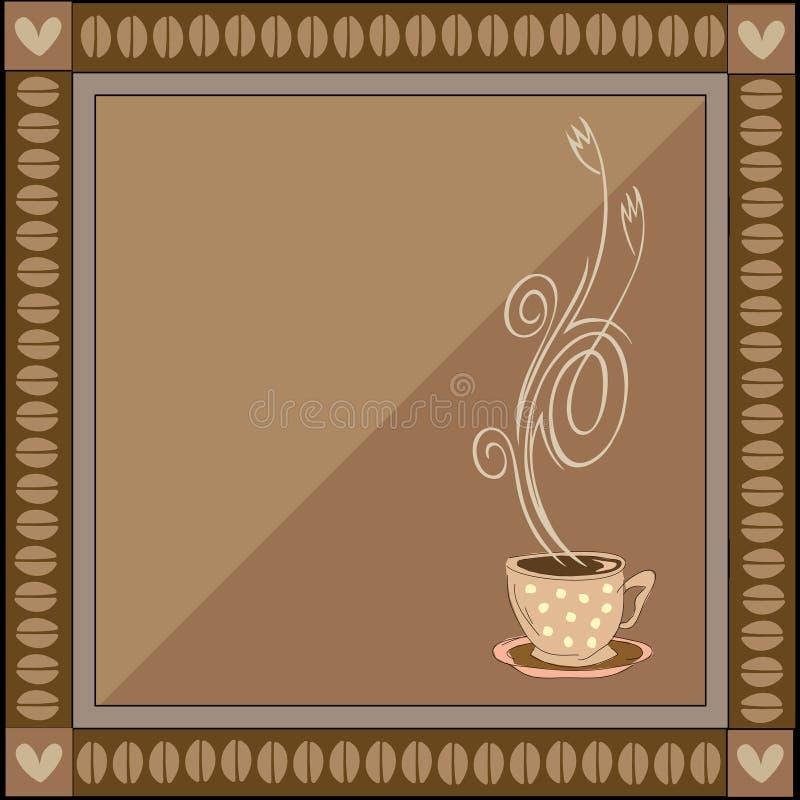 kaffeillustrationvektor stock illustrationer