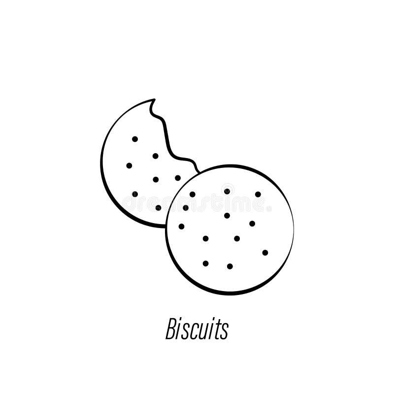 Kaffekex r?cker attraktionsymbolen Best?ndsdel av kaffeillustrationsymbolen Tecknet och symboler kan anv?ndas f?r reng?ringsduken vektor illustrationer